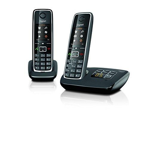 Gigaset C 530 A Duo Telefono 2 Cordless più Segreteria, Funzione Sorveglia Bimbo, Esclusione Suoneria per Fasce Orarie e Numeri Anonimi, Nero