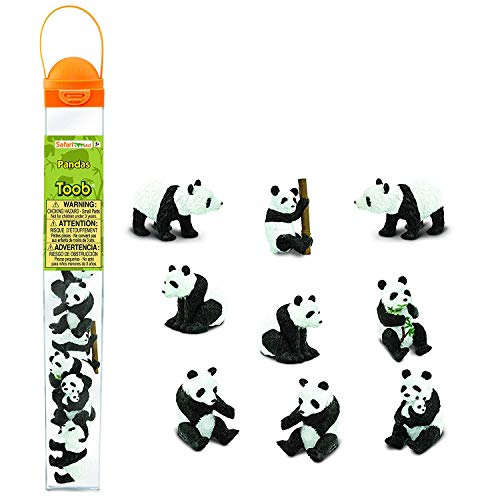 Safari Toobs Pandas Réplique Miniature Ensemble