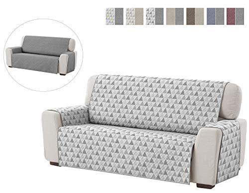 Textilhome - Salvadivano Trapuntato Copridivano Dante 3 posti Reversibile. Colore Grey C/6