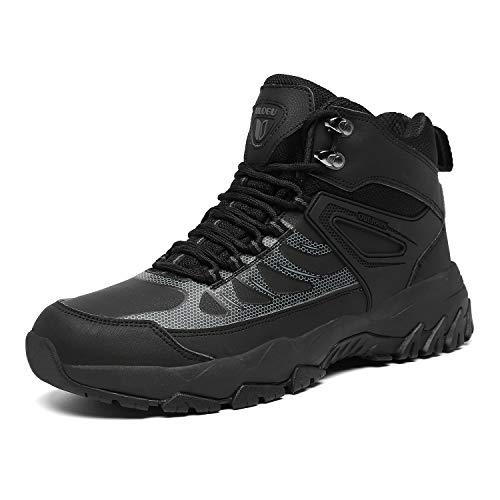 [Zcoli] アウトドア ハイキングシューズ メンズ レディース トレッキングシューズ 防水 防滑 衝突防止レザー 登山靴 大きいサイズ ハイカット 軽量 通気 ウォーキング 耐摩耗性 黒 23.5CM