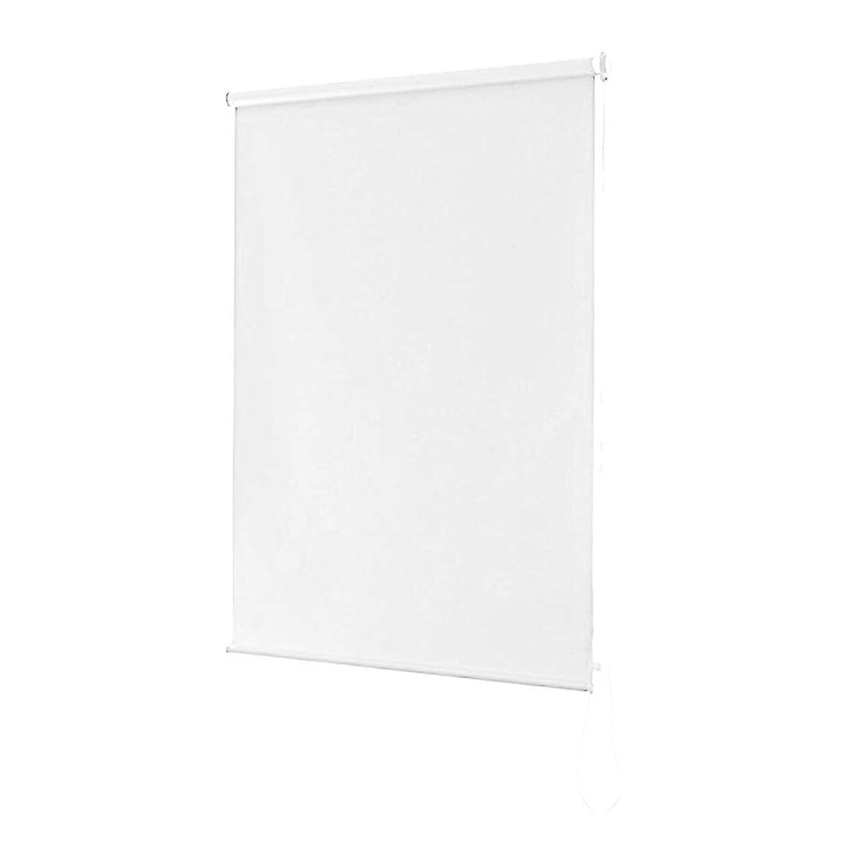 現像億ワットロールスクリーン 幅130×高さ180cm ロールブラインド 遮光1級 ロールカーテン 美しい 簡単取り付け 遮光性 耐久力遮光率99.99% 無地 スクリーン チェーン式 ホワイト