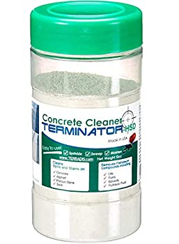 Terminator-HSD Eco-Friendly Bio-Remediates and Removes Oil & Grease Stains on Concrete and Asphalt Driveways Garages Pavers Patios Parking Lots Streets and Warehouses 10 Oz