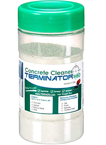 Terminator-HSD Eco-Friendly Bio-Remediates and Removes Oil & Grease Stains on Concrete and Asphalt Driveways, Garages, Pavers, Patios, Parking Lots, Streets and Warehouses(10 Oz)