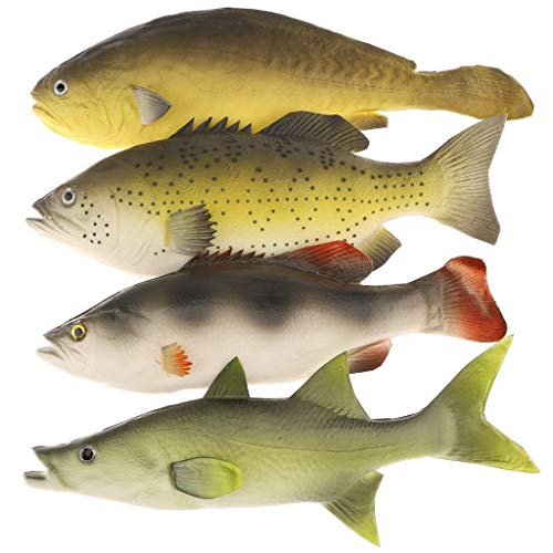 Gresorth 4 PCS Fake Fish Food Decoration Home Party Kitchen Shop Display Lifelike Toys Model