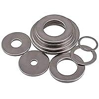 Gasket 316ステンレス鋼のフラットガスケットは、座金m2m3m4m5m6m8m10m 50PCSフラット肥厚しました Tool parts (Inner Diameter : M5 X 15 X 1.2)
