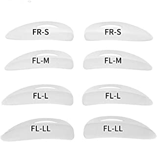 Libeauty Lash Lift Pads Rods 16Pcs Eyelash Perm Lift Silicone Rods 4 Size Reusable Eyelash Perming Curler Shield Pads with...
