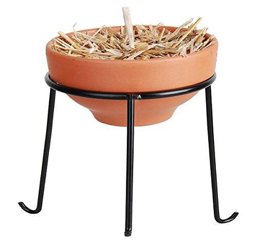 zeitzone Terrakotta Feuerschale mit Ständer Gartenfackel 15cm