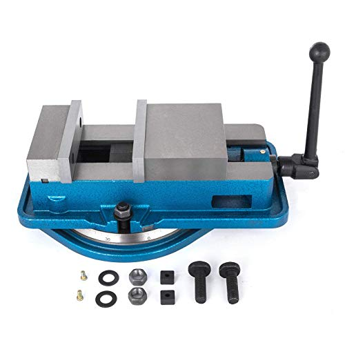 5 Inch ACCU Lock Down Vise Precision Milling Vice 5 Inch Jaw Width Drill Press Vise Milling Drilling Machine Bench Clamp Clamping Vice with 360 Degree Swiveling Base CNC Vise