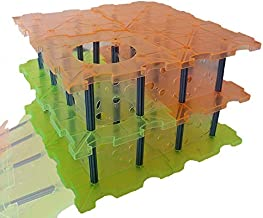 Small Rat Maze - (Clear walls) Build a different maze everytime ! for Rats, Hamsters, Mice and Other Small Critters Mixed Color Orange and Green Rat Maze - 76 pieces