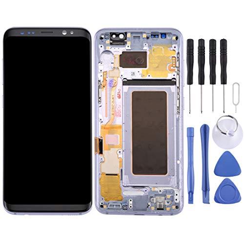 Reparatie LCD-scherm + touchpaneel met frame voor Galaxy S8, G950F, G950FD, G950U, G950A, G950P, G950T, G950V, G950R4, G950W, G9500 (zwart), grijs