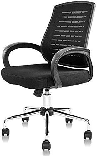 Sedia da Ufficio Sedia da ufficio Sedia da scrivania con supporto per sedile regolabile Supporto lombare e ampia vite di poggiatesta Sedia ergonomica Poltrona ( Color : Black , Size : Free size )