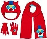 Tuc Tuc 50328 Set de bufanda, gorro y guantes, Rojo, 6 años (Tamaño del fabricante:52) para Niños