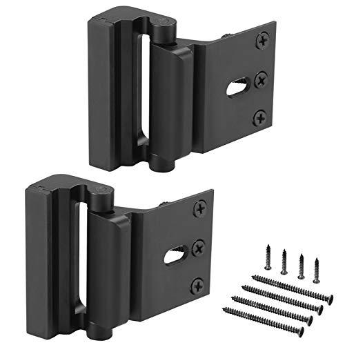 2 Pack Home Security Door Lock,Child Safety Door Reinforcement Lock with 3