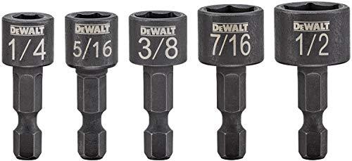 DEWALT Nut Driver Set, Compact, 5-Piece (DWAIND5)