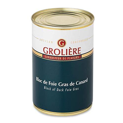 Foie Gras Grolière Label Canards à du Sud-Ouest Qualité Artisanale Bloc de Canard 400 g 1 Unité