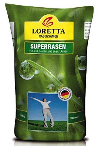 Loretta Superrasen | 10 kg Rasensaat für Strapazierrasen