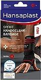 Hansaplast Sport Handgelenk-Bandage, Handgelenkstütze schont und unterstützt das Gelenk, Handgelenkschoner passend für das rechte und linke Handgelenk, Größe S/M