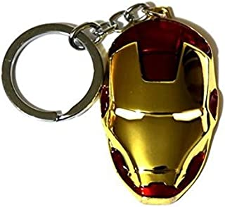 Tonith Iron Man Mask Car Truck SUV Boat Home Office Metal Keychain Pendant Key Chains (Iron Man Mask)
