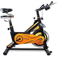 gridinlux. Trainer ALPINE-8000. Bicicleta de Spinning Pro-Indoor, Volante de Inercia 25 kg, Nivel Avanzado, Altura Ajustable, Pantalla LCD, Fitness, Unisex.
