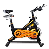 gridinlux. Trainer ALPINE-8000. Bicicleta de Spinning Pro-Indoor, Volante de Inercia 25 kg, Nivel Avanzado, Altura Ajustable, Pantalla LCD, Fitness, Unisex.