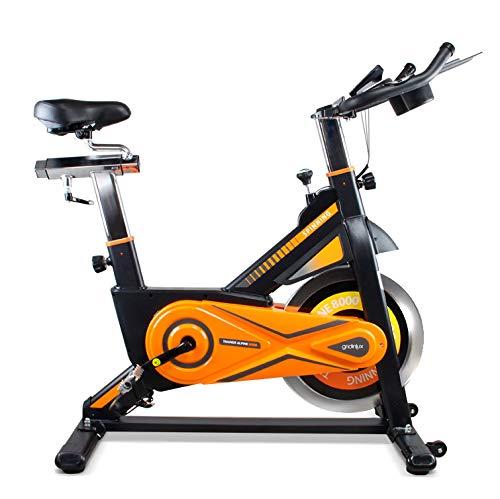gridinlux. Trainer Alpine 8000. Bicicleta estática Ciclo Indoor. Volante de Inercia 25 kg, Nivel Avanzado, Altura Ajustable, Pantalla LCD, Fitness, Unisex.