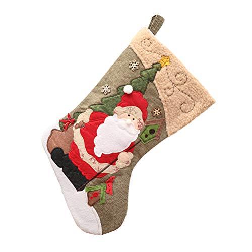 BESTOYARD Noël Bas Sac de Bonbons de père Noël Cadeaux Sac Suspendu décor pour Arbre de Noël cheminée Mur Porte