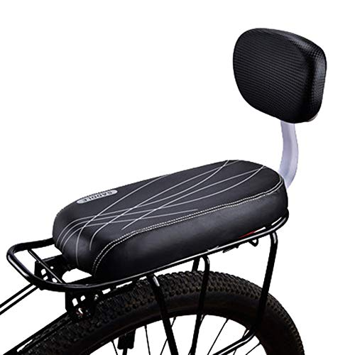 Lixada Bicycle Rear Seat, Cycling Child Seat With Backrest Comfortable Children Safety Rear Seat Cushion Kids Bike Back Seat