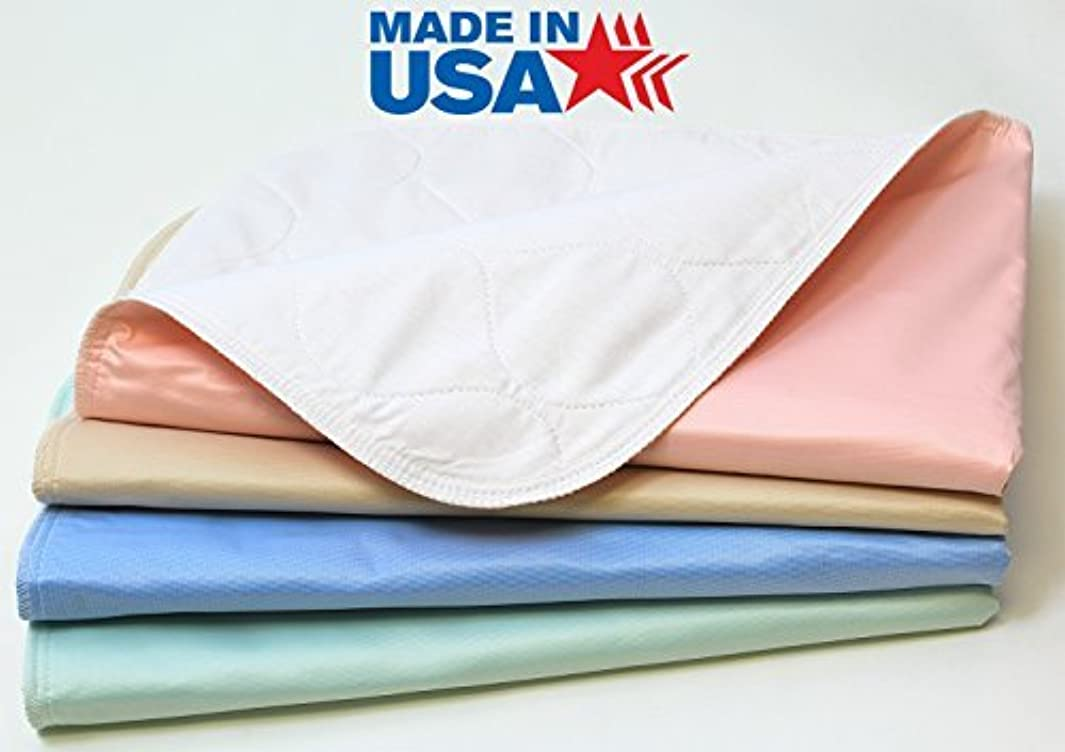 4 Pack - Heavy Weight Soaker 34x36 Waterproof Reusable Incontinence Underpads/Washable Incontinence Bed Pads - Green, Tan, Pink and Blue - Great for Adults, Kids and Pets - 9oz Soaker