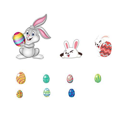 Gojiny Ostern Magnetische Aufkleber Ostern Kühlschrank Magnete Dekoration Hase Eier Aufkleber Urlaub Cartoon Dekoration