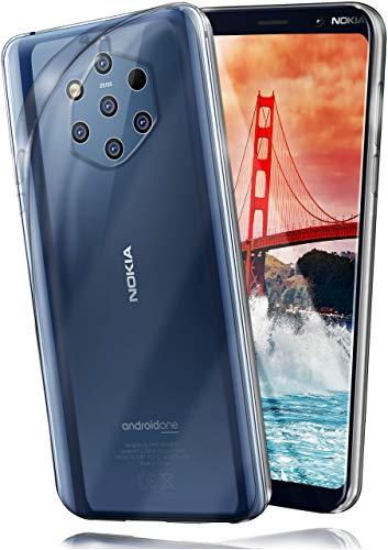 moex Aero Hülle kompatibel mit Nokia 9 PureView - Hülle aus Silikon, komplett transparent, Klarsicht Handy Schutzhülle Ultra dünn, Handyhülle durchsichtig einfarbig, Klar