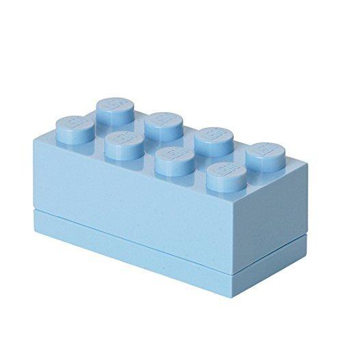 Room Copenhagen 40121736 Minicaja de 8 espigas de Lego, Caja para tentempiés,...