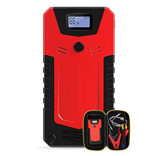 LBYDXD Arrancador de Coche, 12800mAh Arrancador portátil, Cargador de Emergencia Batería Banco de energía Dispositivo de Arranque, Linterna LED, Puerto USB para Smartphone