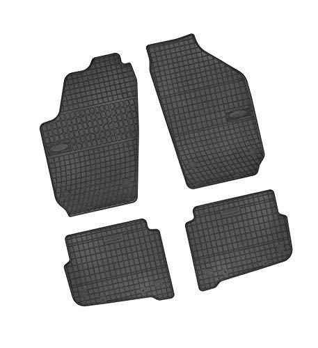 Bär-AfC VW04104 Gummimatten Auto Fußmatten Schwarz, Erhöhter Rand, Set 4-teilig, Passgenau für Modell Siehe Details