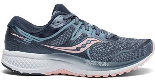 Saucony Women's Omni ISO 2 Running Shoe, Slate/Pink, 6 M US