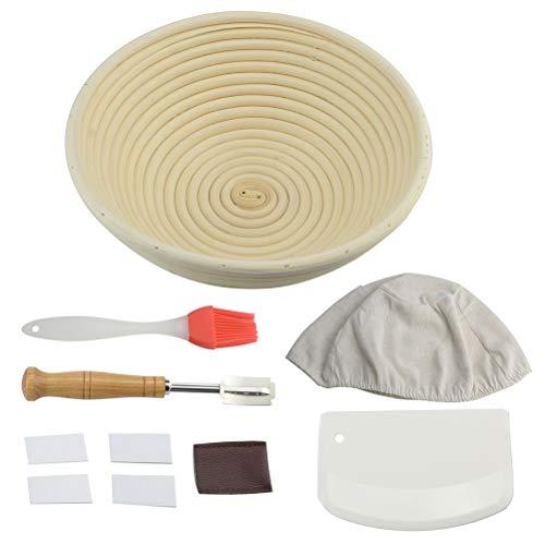 Cabilock 1 Set Bread Baking Tools Bread Fermentation Basket Cutter Scraper Brush Cloth for Home Kitchen Bakery