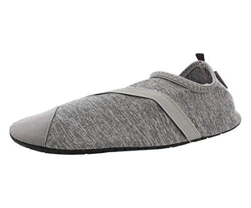 FitKicks Live Well Women's Foldable Active Lifestyle Minimalist Footwear Barefoot Yoga Water Everyday Shoes Grey