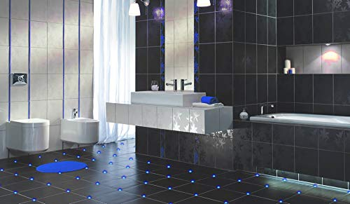 4x Fliesen LED 3mm Fuge Licht Beleuchtung Fugenlicht Kreuz Fliesenlicht (blau)