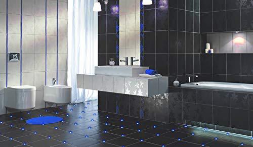 12x Fliesen LED 3mm Fuge Licht Beleuchtung inkl. Trafo Fugenlicht Kreuz Fliesenlicht (blau)