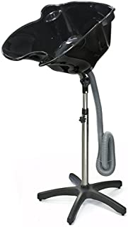 Best Choice Products Portable Height Adjustable Shampoo Basin Hair Treatment Bowl Salon Tool Black
