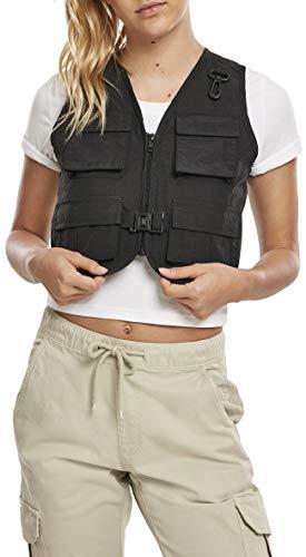Urban Classics Damen Ladies Short Tactical Vest Jacke, Black, M