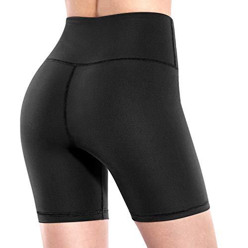 Promover Pantaloni da Yoga Donna Alta Vita con da Corsa Allenamento Pantaloncini da a 4 Vie con Controllo Pancia Yoga Pantaloni Corti con Tasche Laterali