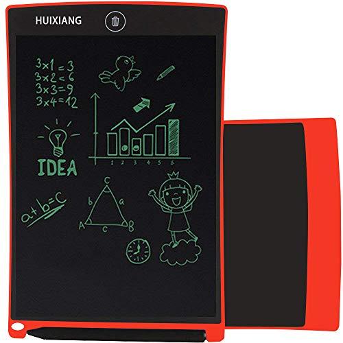 HUIXIANG LCD Writing Tablet 8.5 Zoll Schreibtafel LCD Elektronischer Notizblock Digital Schreiben Tabletten Grafiktablet Kinder ab 3/4/5/6/8/10 Jahre Jungen Mädchen Schule (Rot)