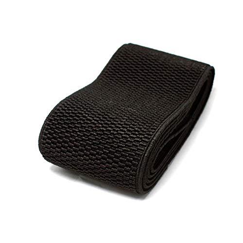 6CM breiter, hochwertiger, strapazierfähiger Hosenrockgürtel Farbe Elastic Band/Twill Elastic Tape Latex Elastic Tape Gummiband, schwarz, 60 mm