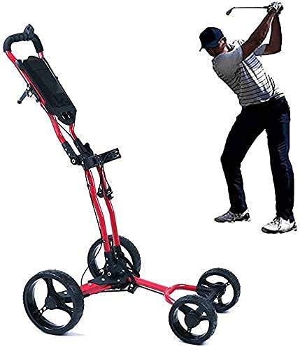 WEDF Carrito de Golf/Charter, Carrito de Golf de Cuatro Ruedas, Freno de pie, fácil de Usar, Apto para Uso en Exteriores (Solo Carrito de Golf)