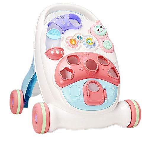 Baby Activity Walker, Stand Learning Walker, Multifunctioneel loopstoeltje speelgoed loopstoeltje kan het gewicht verhogen en kantelen van de trolley met vier wielen voorkomen
