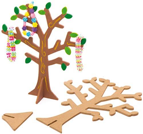Baker Ross Schmuckbäume aus Holz (2 Stück) – für Kinder zum Basteln, Gestalten und als Dekoidee zur Aufbewahrung von Schmuck