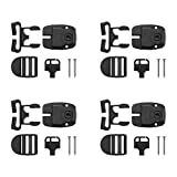Zhaoyao 4 Pack Spa Tub Cover Clip Replace Latches Clip Lock Kit for Spa Hot Tub Cover, Spa Cover Clips Replacement with Keys and Slide Buckle