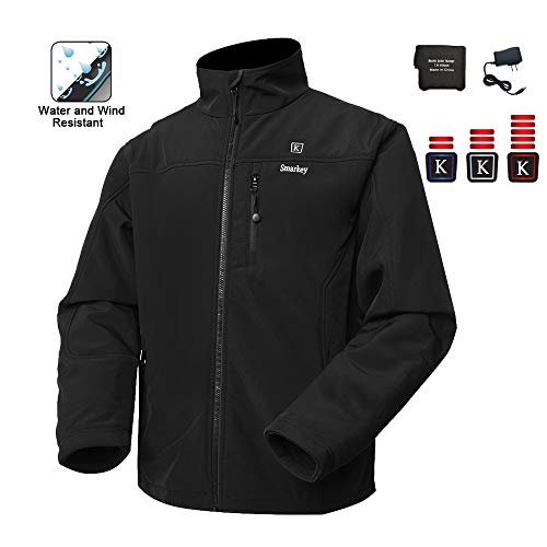 Smarkey Men's Heated Jacket With 1pcs 5200mAh Battery And Charger For Winter Outdoor Wear (XXL)