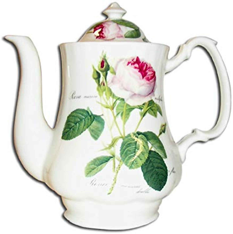 Roy Kirkham rougeoute Rose Porcelaine Fine Cafetière