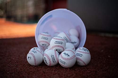 Rawlings Official League Recreational Bucket, Bucket with 24 Baseballs, OLB3BUCK24